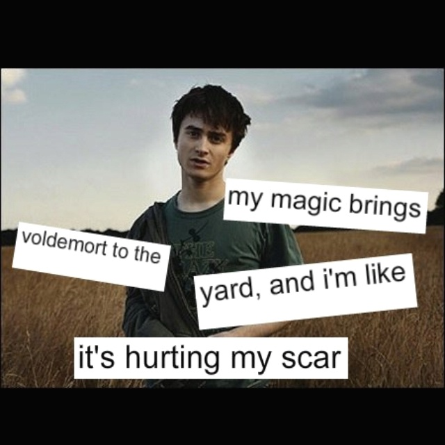 I am not all about the Harry Potter stuff, but this is freaking hilarious. Sing it out loud to yourself, you know you want to.