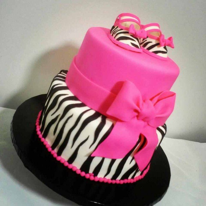 zebra print baby shower cakes - Google Search