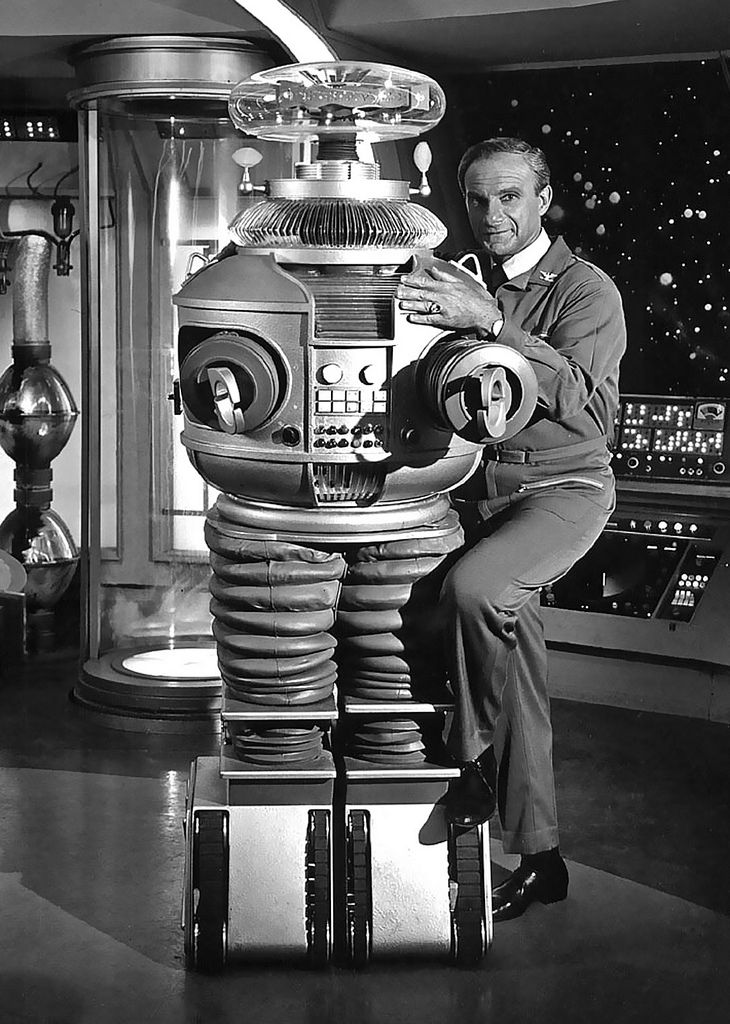 1965 ... Dr. Smith and the Robot!  Jonathan Harris in 'Lost In Space'