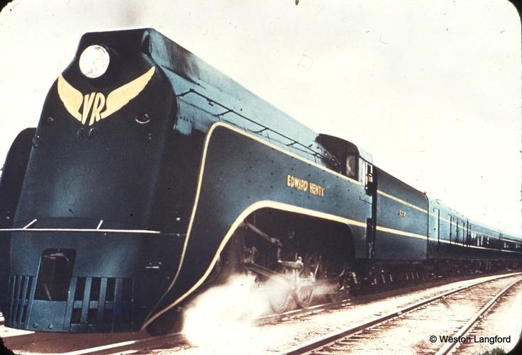Ballarat Up Spirit of Progress Demonstration S 302 Photo Victorian Railways
