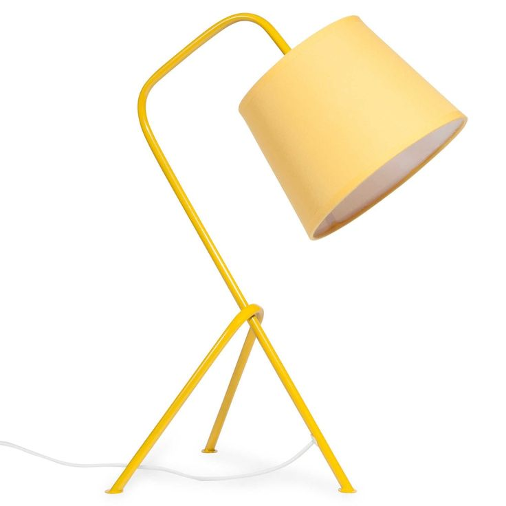 VINTAGE YELLOW yellow metal lamp H 45 cm | Maisons du Monde