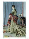 Claude Monet - Portrait of Madame Louis Joachim Gaudibert, 1868 Digitálně vytištěná reprodukce