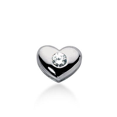Diamantanhänger 0.40 Karat -Herz- aus 585er Weißgold für nur 1499 Euro bei www.diamantring.be erhältlich! Diamantringe, Diamantanhänger, Diamantarmbänder bis zu 70% günstiger kaufen!