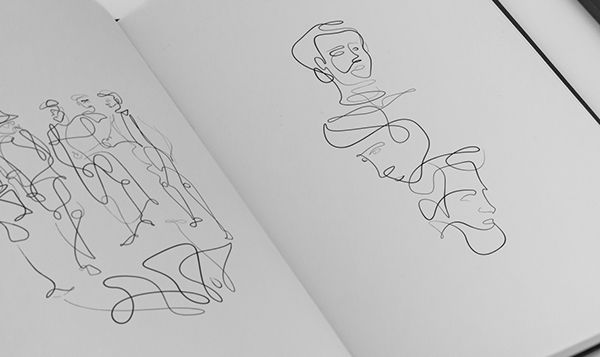 #sketches #drawing #illustration #portratit #continuous #line #SoCUCU