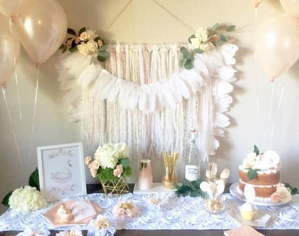 White Themed Birthday Party In 2019 Birthday Parties Girl