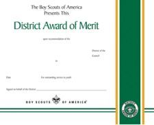 district award of merit certificate template - district award of merit certificate scouting pinterest