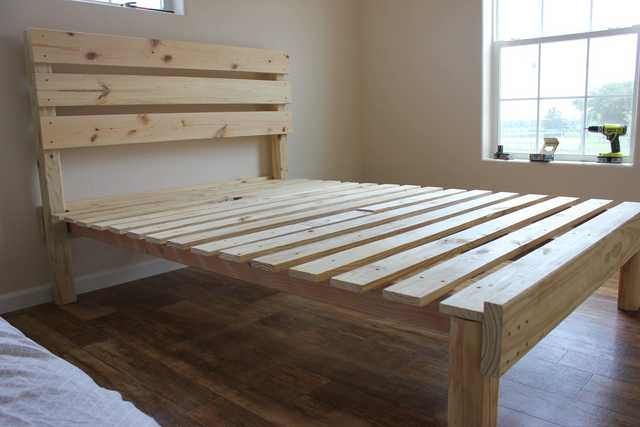 Imgur Simple Bed Frame Bed Frame And Headboard Homemade Bed Frame