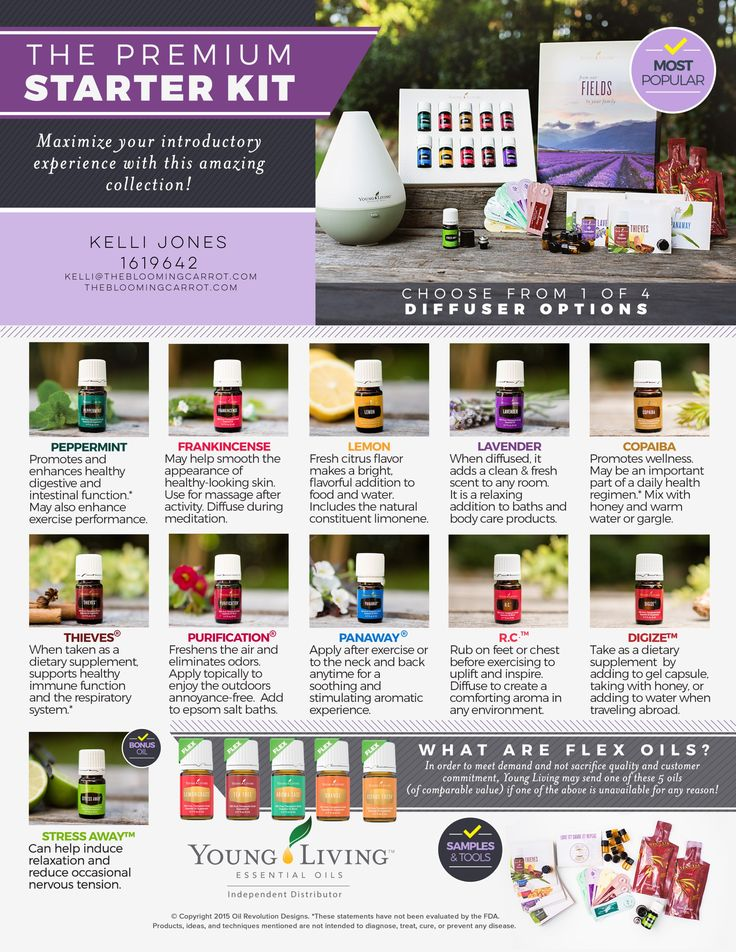 premium starter kit, starter kit, essential oils, young living
