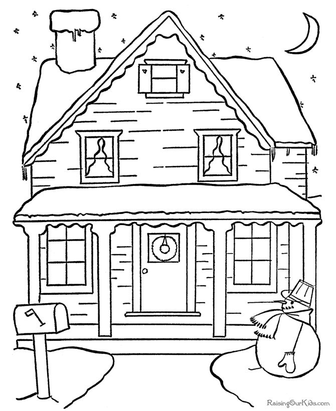 free christmas village coloring pages photo30