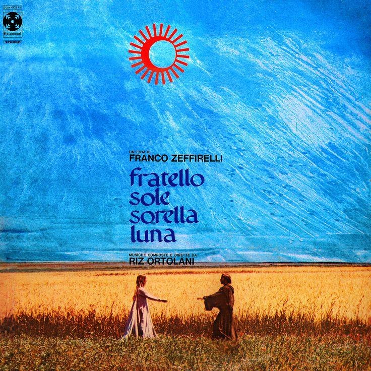 """Portada del disco con la banda sonora de la película """"Hermano Sol, hermana Luna"""", compuesta por Riz Ortolani."""