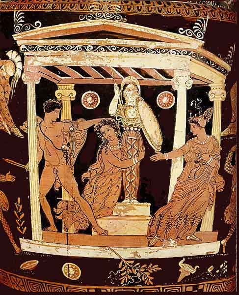 Image result for Ancient Greek Cassandra vase