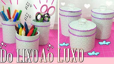 Artesanato Viviane Magalhães: DIY ♥ Do LIXO ao LUXO ♥ Reciclando e Decorando ✂ O...