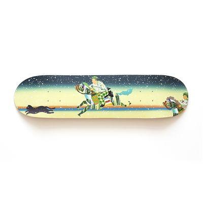 Japanese artist painted surf board...