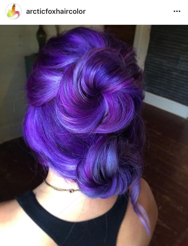 Multi purple hair by Arctic Fox Hair Color
