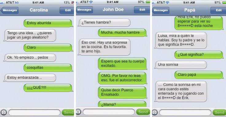 24 conversaciones de celular entre padres e hijas que se complican debido a errores del autocorrector, o a que el mensaje fue enviado a la persona equivocada.