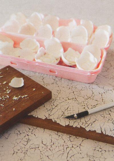 Cómo hacer craquelado de cáscara de huevo