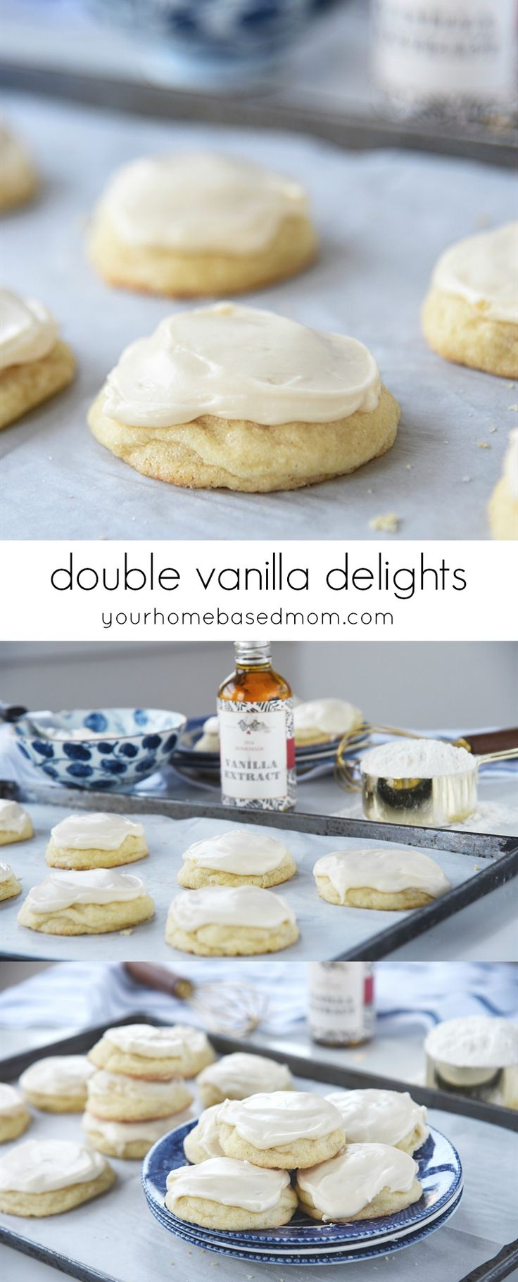 Double Vanilla Delight Sugar Cookies pack a double punch of vanilla flavor! Vanilla will quickly become your favorite flavor.