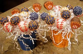 detroit tigers cake pops.