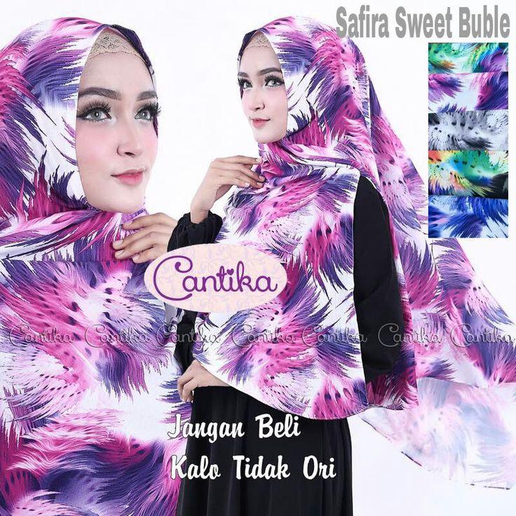Khimar Motif Cantik Safira Sweet by Cantika Hijab