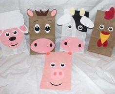fiesta temática de la granja | Bolsitas de cumpleaños de animales de la granja