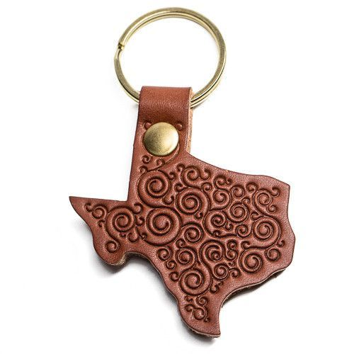 Our distinctive Texas Saddle Shop Keychains get their name from the historic sixty year-old North Texas saddle shop where they're cut and hand stamped, just for you. Made from the highest quality vege