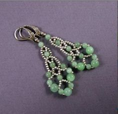 Leaf Beaded Earrings