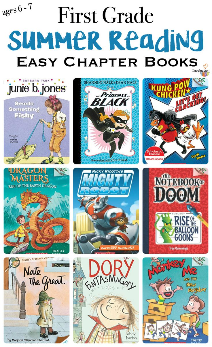 1st grade summer reading list for ages 6 and 7 -- from easy readers to beginning chapter books
