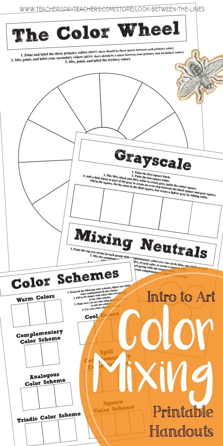 Elementary Middle Or High School Art Color Theory Color Mixing Worksheets Color Wheel Art Projects Color Theory Art Color Mixing [ 1470 x 735 Pixel ]