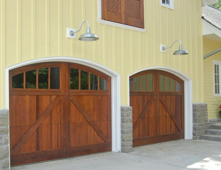 Garage Doors And Gooseneck Lights For The Home