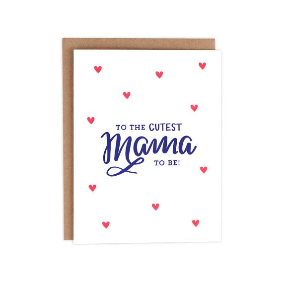 Kaart baby douche, Mama te zijn van de kaart, de kaart van de Baby van de meisje, jongen Baby Card, Card Welkom Baby, Baby douche, douche Card, Unisex Baby Card (No.147-C)
