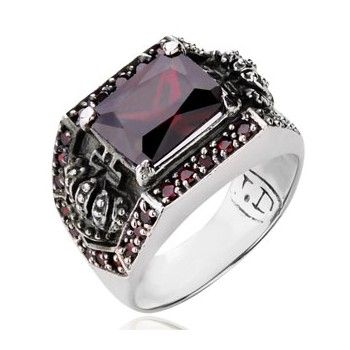 925 Sterling Silver Inlayed Gemstones Crown Ring For Men