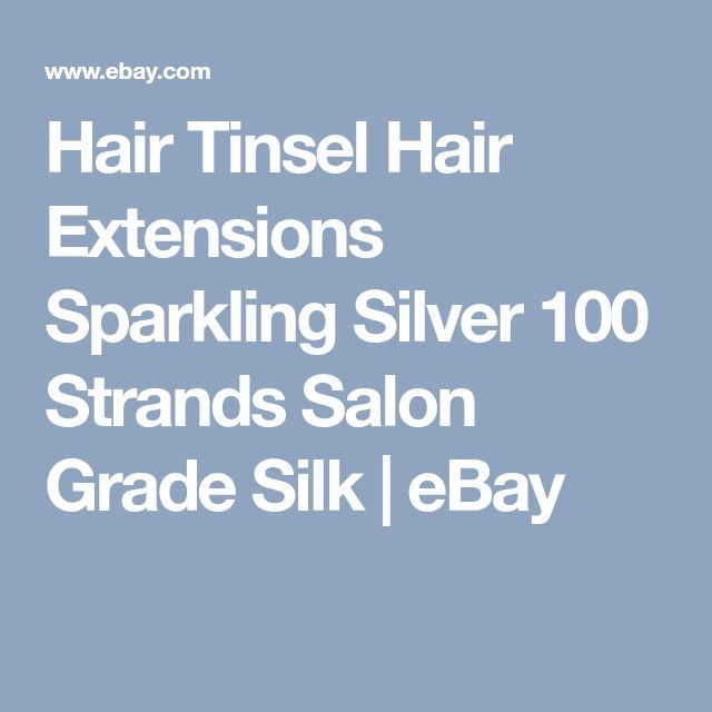 Hair Tinsel Hair Extensions Sparkling Silver 100 Strands Salon Grade Silk | eBay