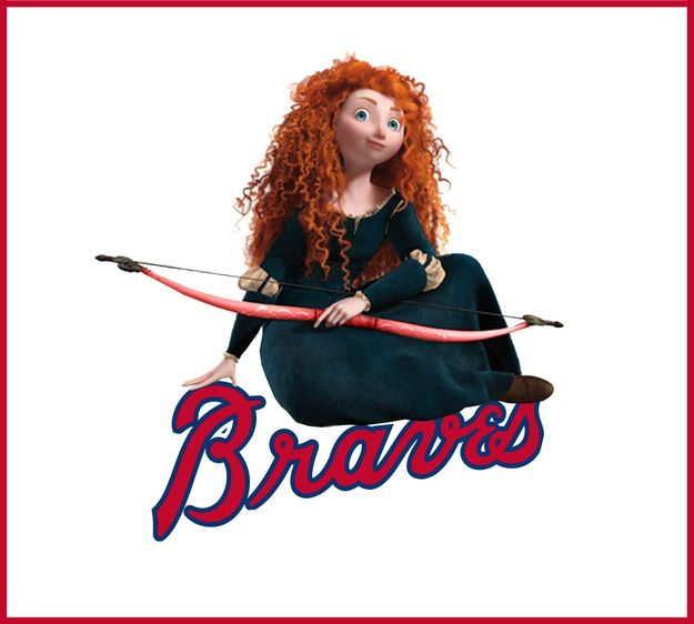 What If Disney Designed Every Sports Team's Logo? Atlanta Braves