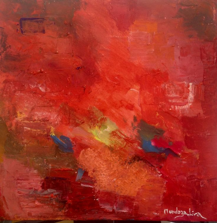 Red Power  Acrylic 50x50 cms. Private collection Tilburg Netherlands
