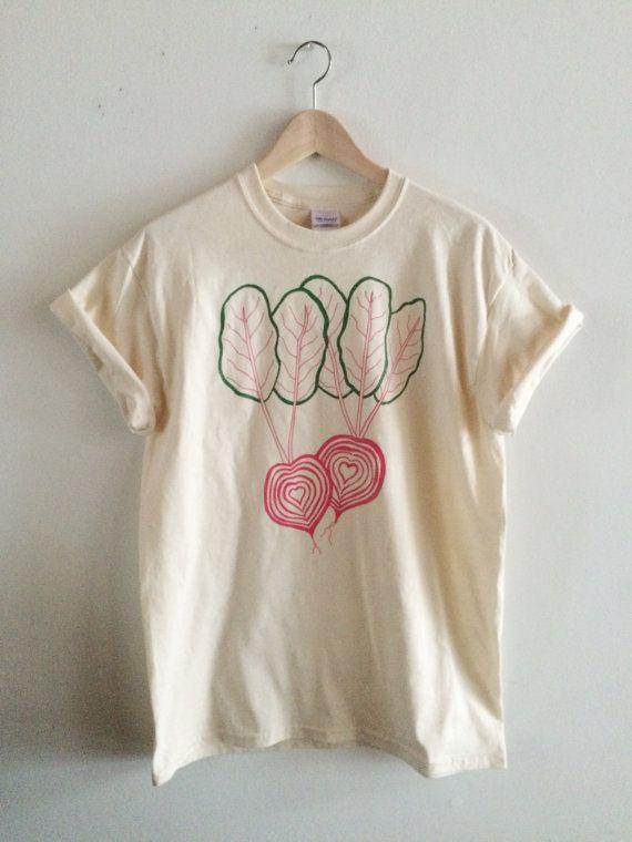 Chiogga Beet Screen Printed T Shirt Vegetable Print by andMorgan