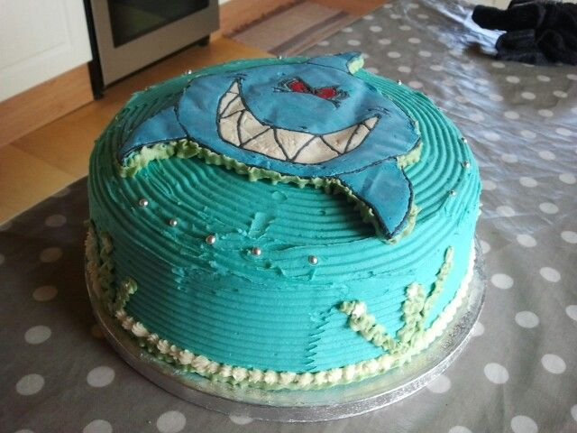 Buttercream Shark Cake