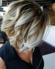 Blonde balayage inverted bob by Jessica hunt