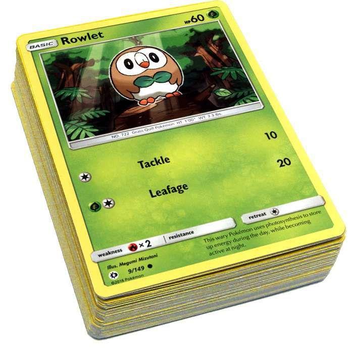 Pokemon Sun & Moon Lot of 50 Single Cards