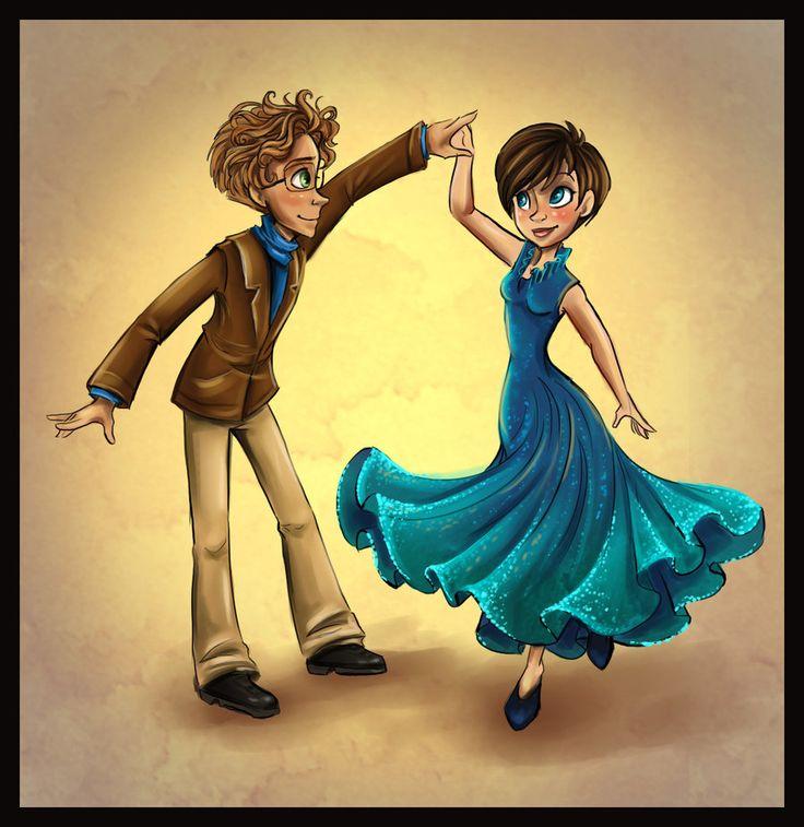 Bernard and Roxanne Dancing by sharpie91.deviantart.com on @deviantART