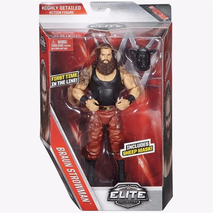 BRAUN STROWMAN ELITE 44 WWE MATTEL BRAND NEW ACTION FIGURE TOY IN STOCK - MINT #MATTEL