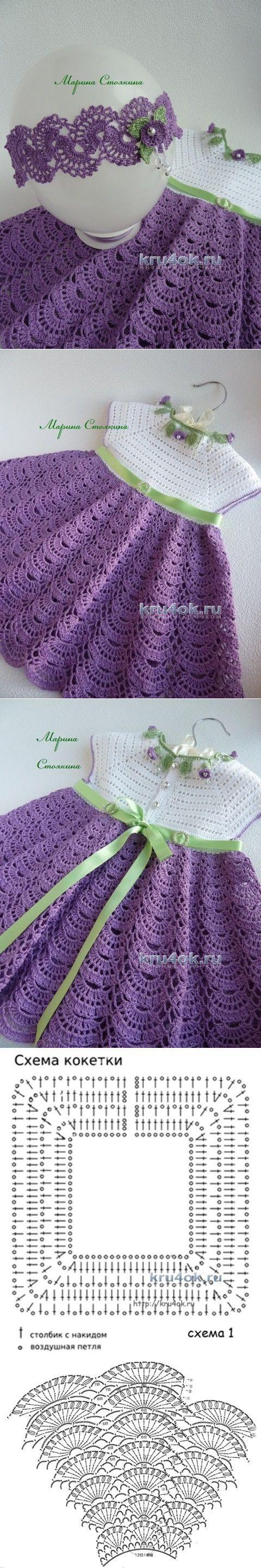 Ajuste de las niñas - trabajar Stoyakin Marina - Crochet en kru4ok.ru