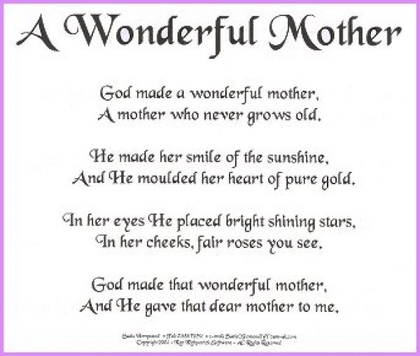a mother is a jewel but a grandmother is a blessing essay She may be a mother, grandmother  this is another great christian poem for mother's day your poem speaks of that blessing.