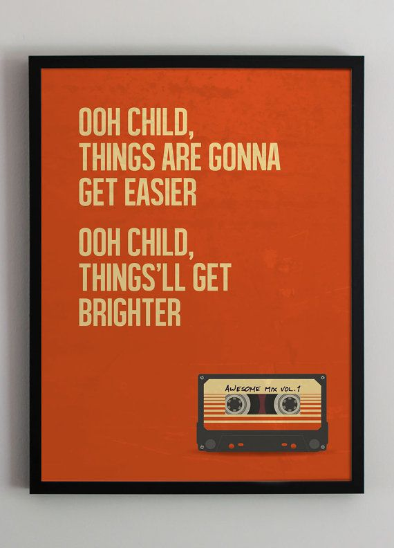 Guardians of the Galaxy  movie poster  Marvel  movie quote