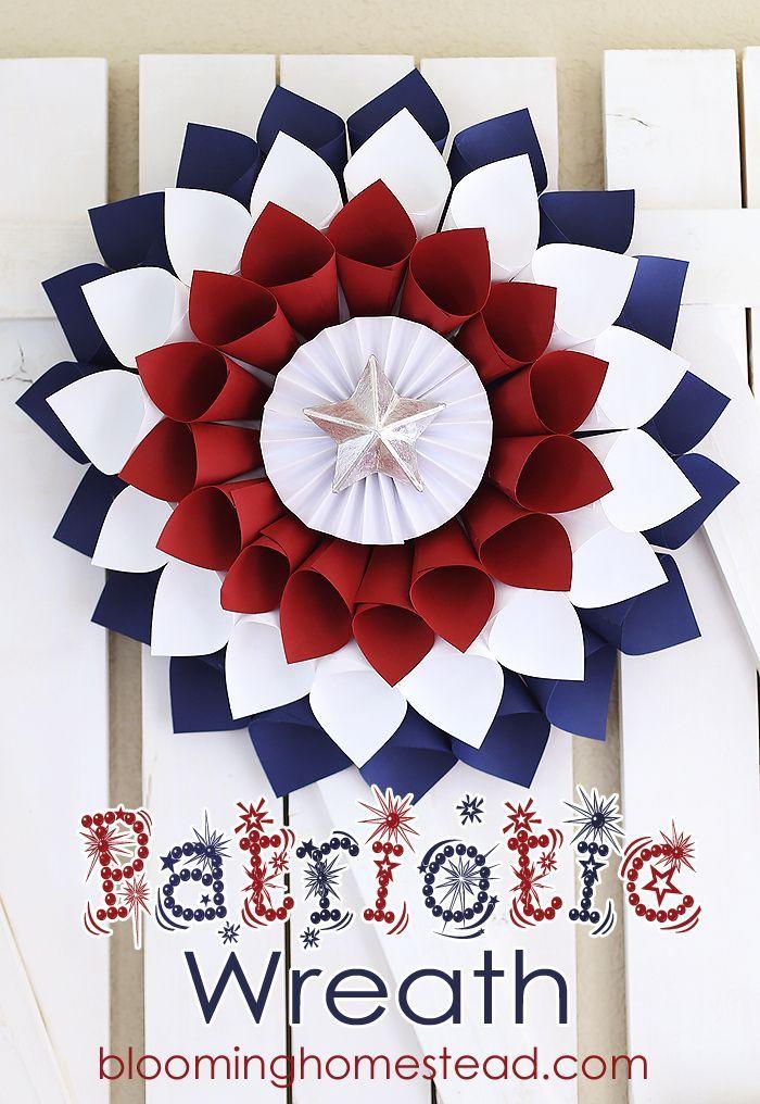 DIY Patriotic Wreath - Fourth of July, Patriotic, Wreath