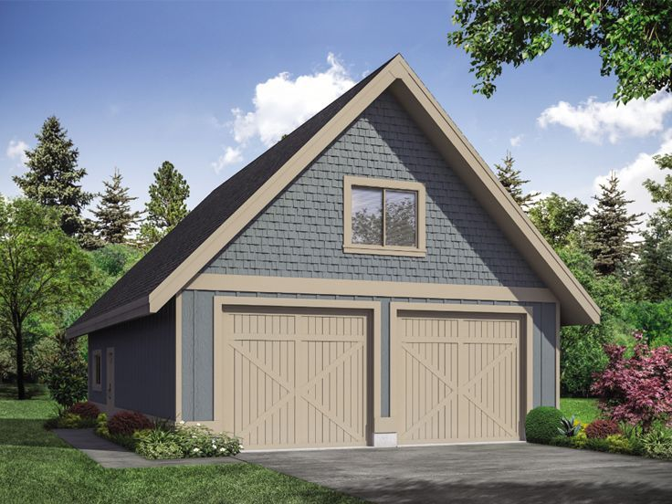 051g 0119 Tandem Garage Plan With Loft 28 X42 Garage Workshop Plans Garage Plans With Loft Garage Plans