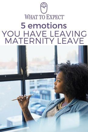Returning to work after having a baby can be a frightening and emotional experience even for veteran moms. What to Expect lays out some great advice here for dealing with the emotional struggles you may face as maternity leave is coming to an end.
