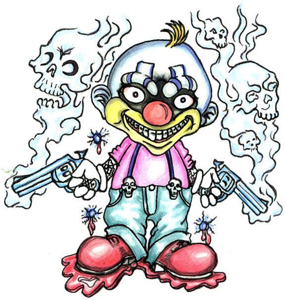 Pics Photos - Evil Joker Clown Tattoo Drawing Drawings Of Joker Clowns