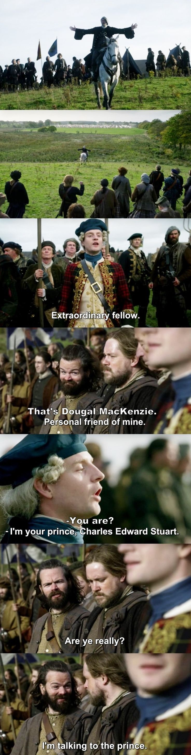 """I'm talking to the Prince"" - Angus, Rupert, Prince Charles and Dougal #Outlander"