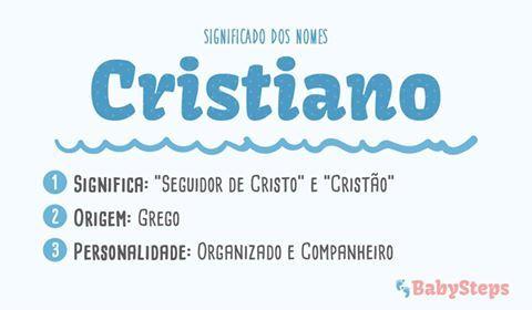 #Cristiano #babysteps #nomes #significado #crianças #bebés #rapaz