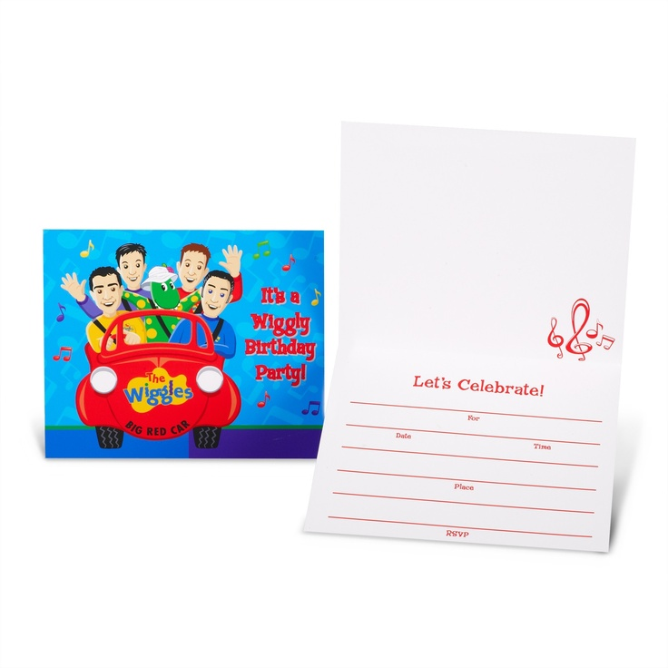 The Wiggles Birthday Party Invitations
